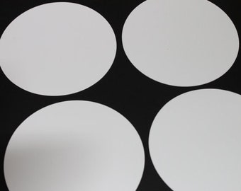 Precut Circles 5 inch (Non Metallic 25 circles) with Optional Holes | Die cut Circles | Garland Supplies | 5 inch Cardstock Circles