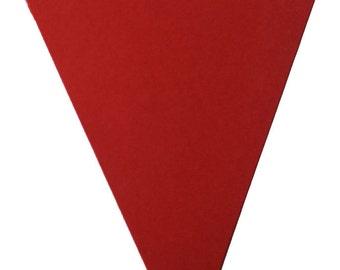 Pennants - Metallic  25/set    Pennants for Banners   Pennants for Buntings   Cardstock Triangles   Cardstock Pennants   25/set