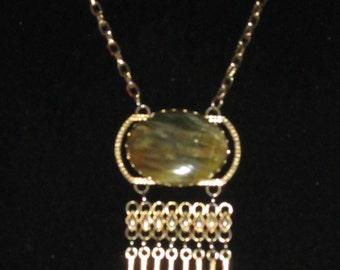 N3  Green Labradorite Necklace