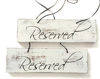 Reserved sign, reserved seating sign, wedding signs