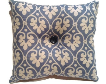 Decorative Throw Pillow, Linen, Blue, Accent Pillow, Toss Pillow, Home Decor