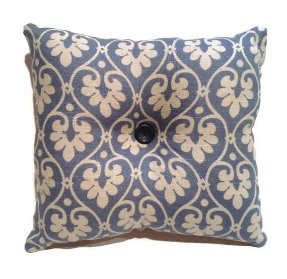 Blue Linen Throw Pillows : Decorative Throw Pillow Linen Blue Accent Pillow Toss