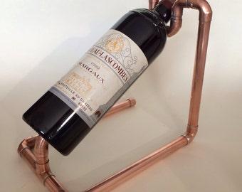Copper pipe Wine bottle holder