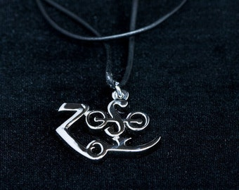 Led Zeppelin Jimmy Page Zoso Symbol Pendant