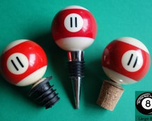 Number 11 Pool/Billiard Ball Wine Bottle Stopper