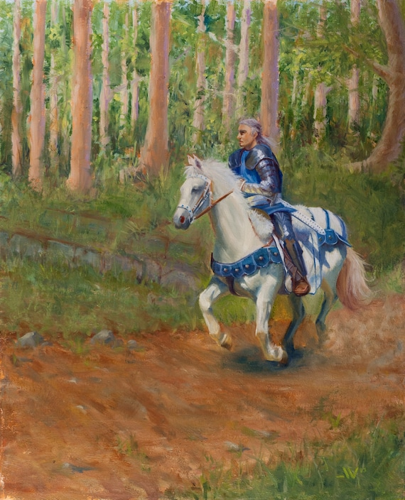 Items similar to The King's Messenger: Oil Painting of a ...
