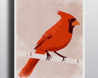 Cardinal Poster Digital Art Print