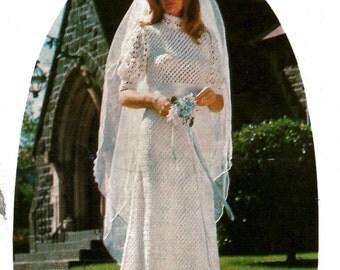Vintage Crochet Wedding Dress and Blouse Pattern