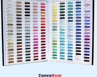 COLOR CARD - Hug Snug Seam Binding - Schiff - 180 Colors - Zipperstop