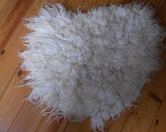 Wool fleece felted rug