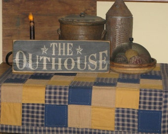 Cute Distressed OutHouse Sign