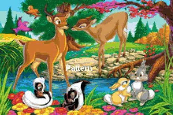Bambi 4. Cross Stitch Pattern. PDF Files.