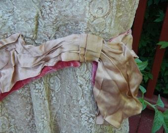 Antique 20's  Drop Waste Lace Dress