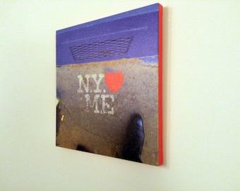 """Canvas wall art: """"NY Heart Me"""" play on I Love New York - ready to hang photo canvas"""