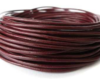 5 meters round leather cord in Granada, 2mm genuine leather cord for jewellery making UK, craft supplies