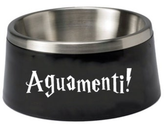 Aguamenti Water Making Spell Perfect For Dog or Cat Water Bowls or On the Refrigerator #hp4