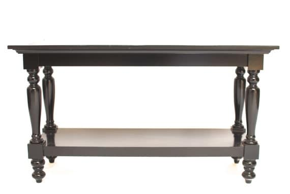 Vintage 2 tier console or sofa table by erinlaneestate on etsy for Sofa table tennis