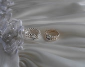 Honeymoon Ring   HAND MADE with Swarovski pearls with sparkling diamantes stretch style dress ring