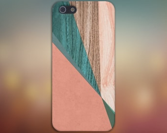 Peach x Green x Light Wood Case for iPhone 6 6 Plus iPhone 7  Samsung Galaxy s8 edge s6 and Note 5  S8 Plus Phone Case, Google Pixel