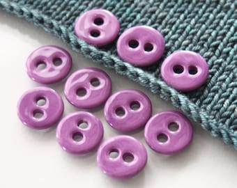 """10 Small Dark Magenta Ceramic Buttons (18 mm / 0.7"""")"""