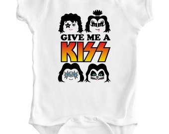 KISS - Baby Romper / Creeper / Bodysuit / Vest / One piece /  Rock/Metal Shirt