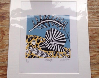 Limited Edition Hand Printed Wood Engraving - Aldeburgh