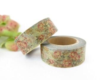 Floral Washi Tape / Decorative Washi Paper Masking Tape  WT007