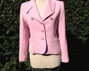Baby pink Yves Saint Laurent jacket from the Encore range size 40 european, 8 American, 10 UK