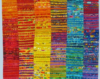 Colorful Abstract Art Quilt