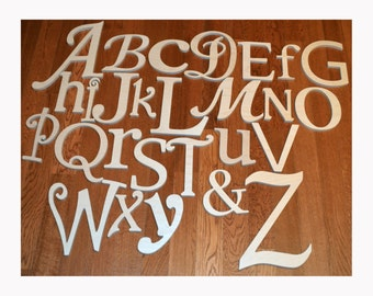 Wooden Alphabet Letters, Unfinished Wood Letters in Various Fonts and Sizes, Complete Full Set, Nursery decor - Ready TO SHIP