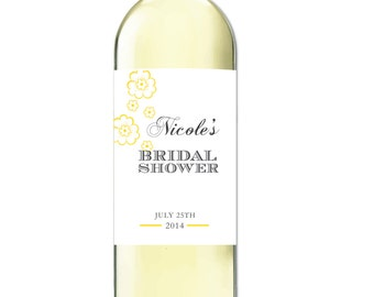 Bridal Shower Wine Label  Personalized Wine Labels