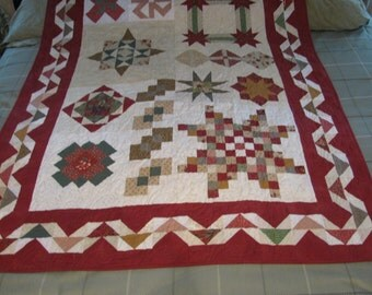 Lessons from Momma. A sampeling of several different quilt patterns