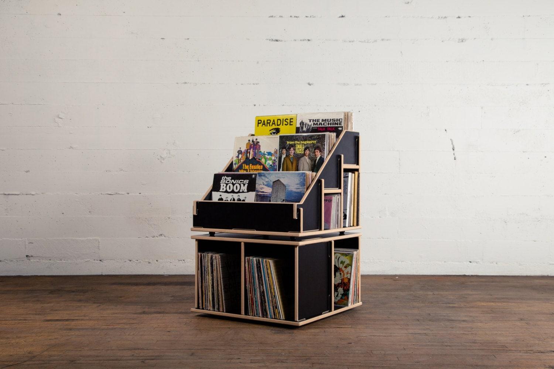 black vinyl record album storage shelf bin lp or holder no. Black Bedroom Furniture Sets. Home Design Ideas
