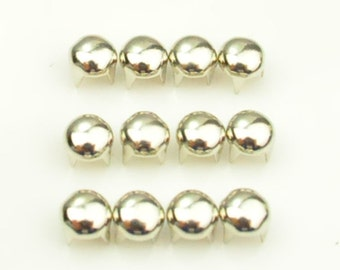 Offer For Sale DIY Round Stud--Silver Round Studs 100 Pieces 5MM, Silver Studs Round, 4 Prongs, 4 Legs,DIY Leather, Clothes, iPhone Case
