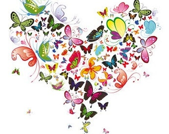 Butterfly Heart Cross Stitch Pattern