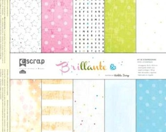 "Scrapbooking paper set ""Bright"" 12'x12'"