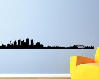 Sydney Skyline Black Wall Decal