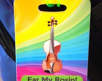 Violin Player Music Musical Instrument Bag Tag