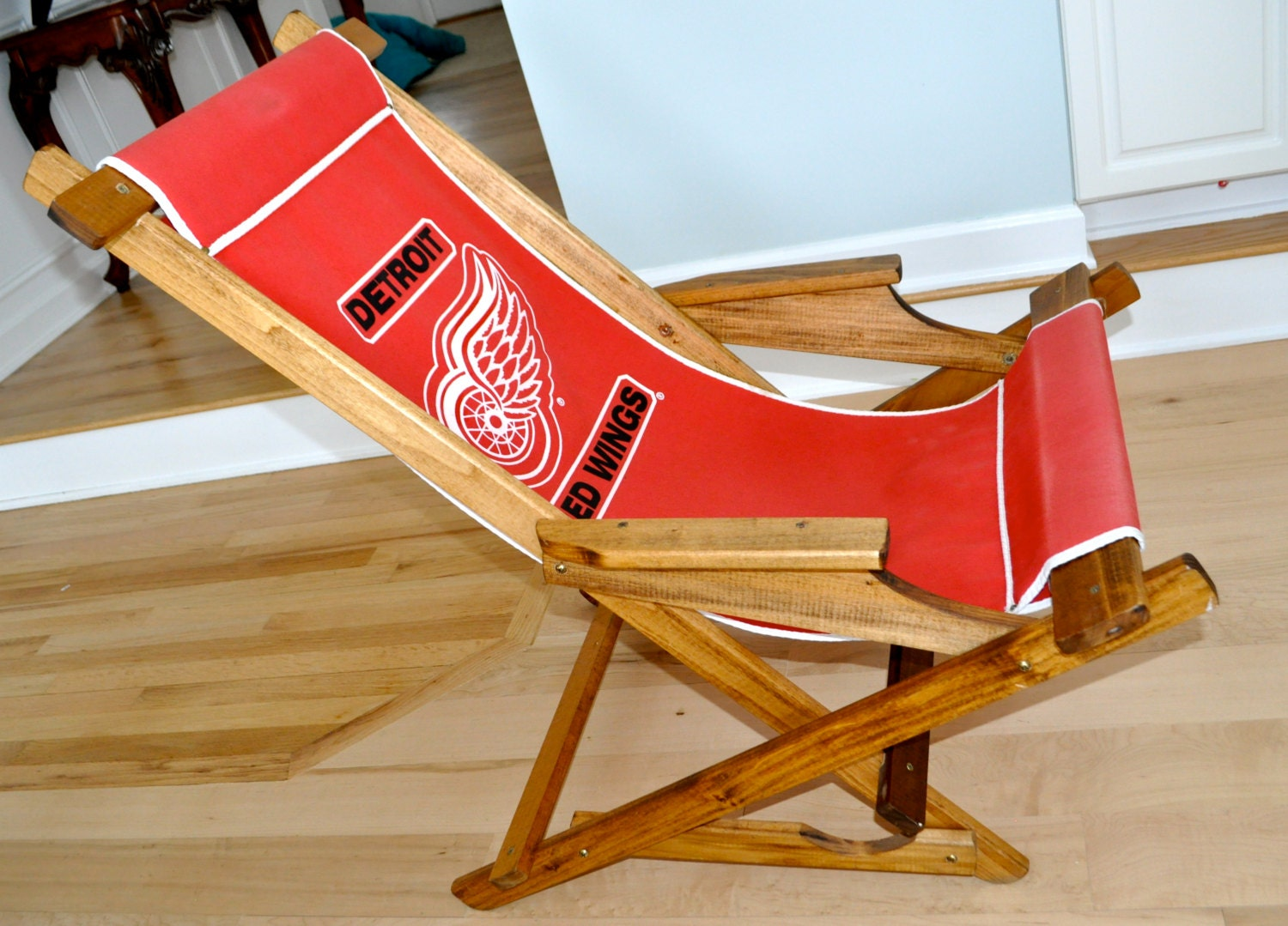 Detroit Red Wings Canvas Sling Slingback Camp Camping Glider