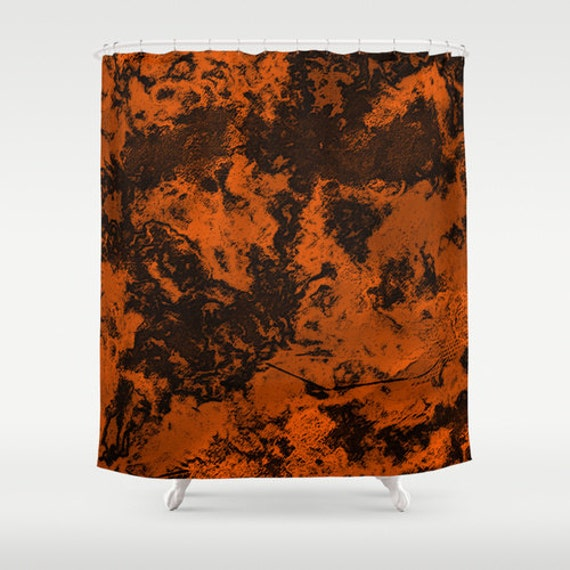 Items Similar To Orange Abstract Shower Curtain Galaxy Print Bathroom Decor