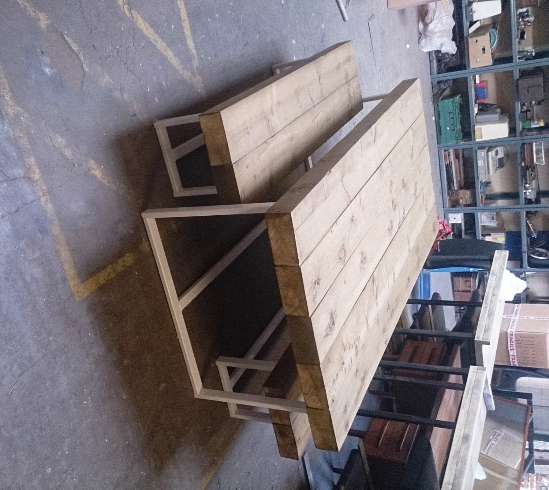Industrial Chic Custom Indoor & Outdoor Sleeper Timber Top