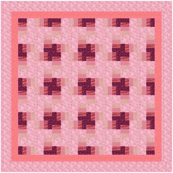 Scrap Quilt Patterns For Beginners : Quilt Pattern Scrappy Time Blocks King by QuiltPatternsDesigns