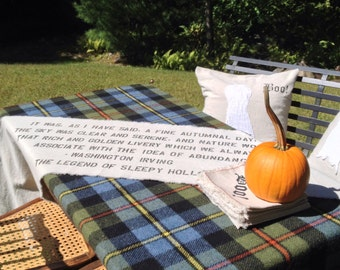Sleepy Hollow Quote Table Runner