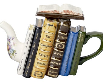 The 'Poetry Books ' Full Size Teapot