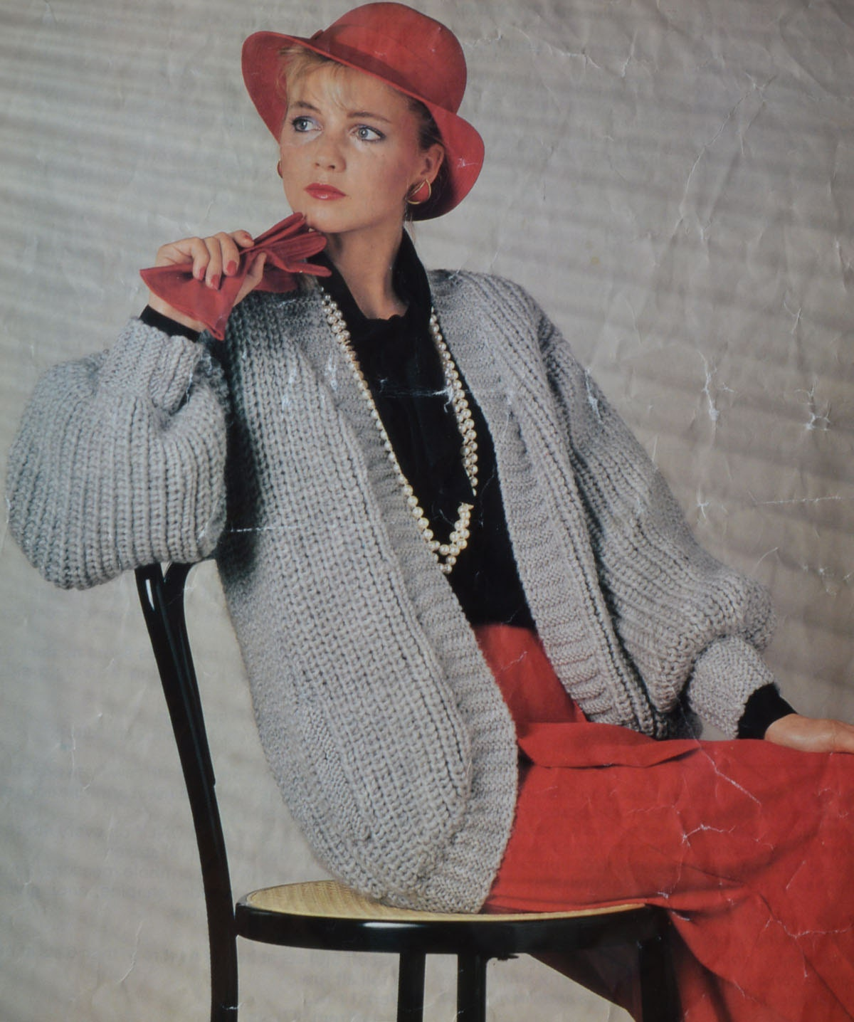 Knitting Pattern Jacket Chunky : PDF chunky cardigan vintage knitting pattern jacket ladys