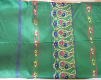 Polyester Silk Brocade Work Sari For Craft