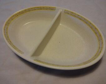 Franciscan Hacienda Gold Divided Serving Dish