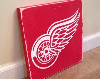 Detroit Red Wings sign - wood wall art