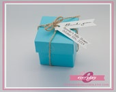 "Custom Gift - Favor Tags - Thank You Flag Tags: 2.4"" long x 0.5"" high"