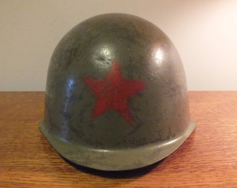 Vintage Russian Military Red Star M52 Helmet